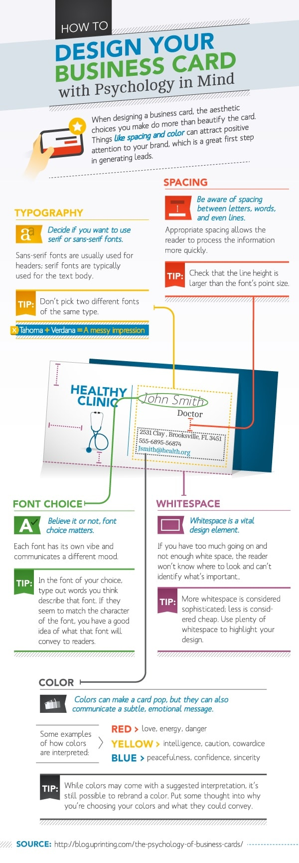 How to make an insanely powerful business card the daily positive thepsychologyofbusinesscards colourmoves Choice Image
