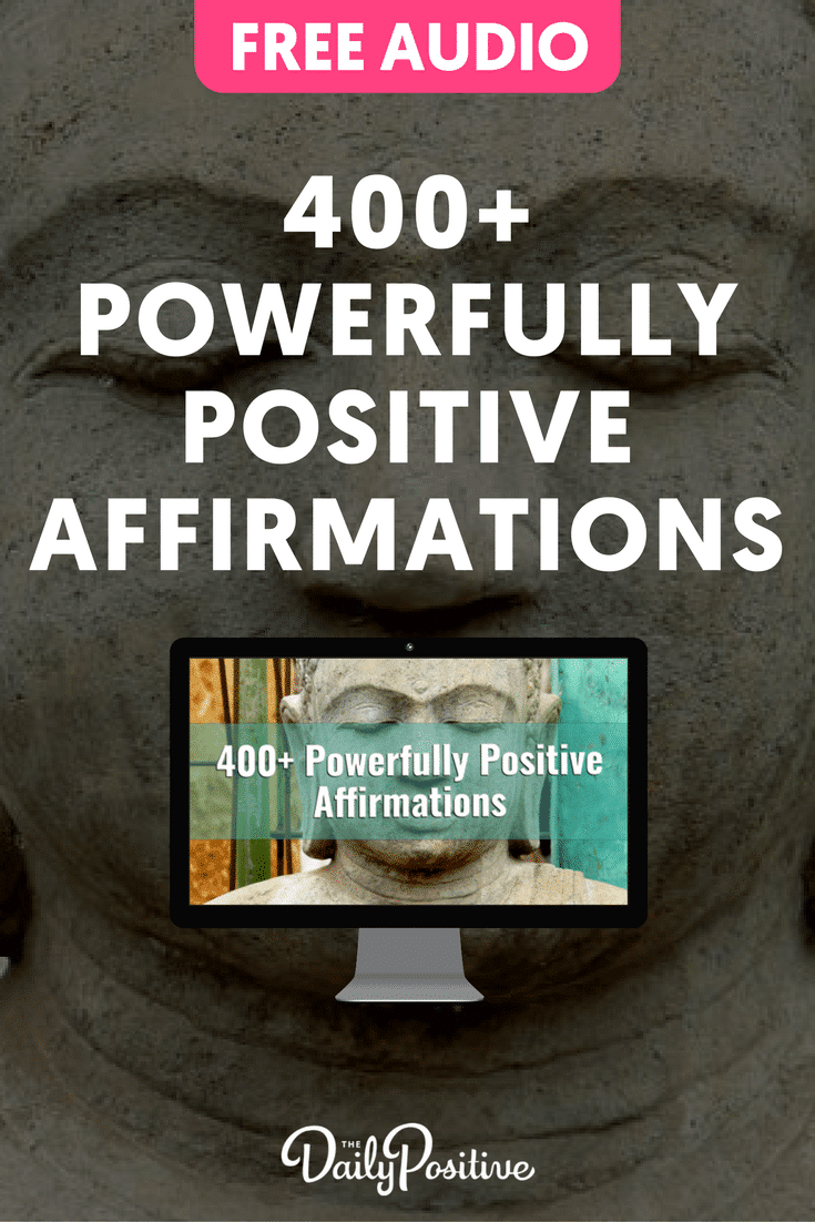 Enjoy this 400+ powerfully positive affirmations audio to shift your beliefs, retrain your thinking and uplift your energy. #affirmations #affirmationsaudio #freeaudio #thedailypositive #positivity #happiness #success