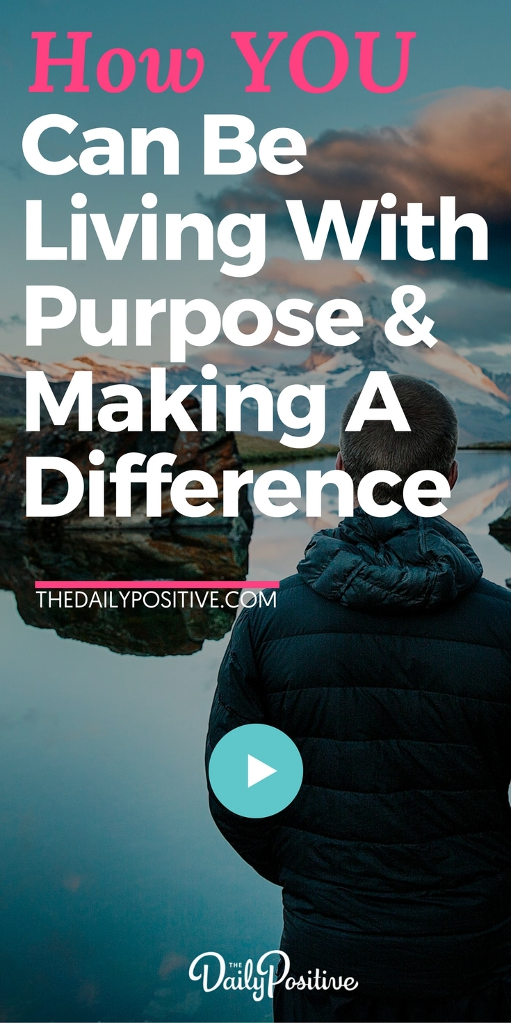 This 4 minute video will inspire you to live with purpose and make a difference in the world that really counts, and you'll see... you can start right now, wherever you stand! #purpose #giving #makingadifference #personalgrowth #inspiration #passion #humanity #contribution