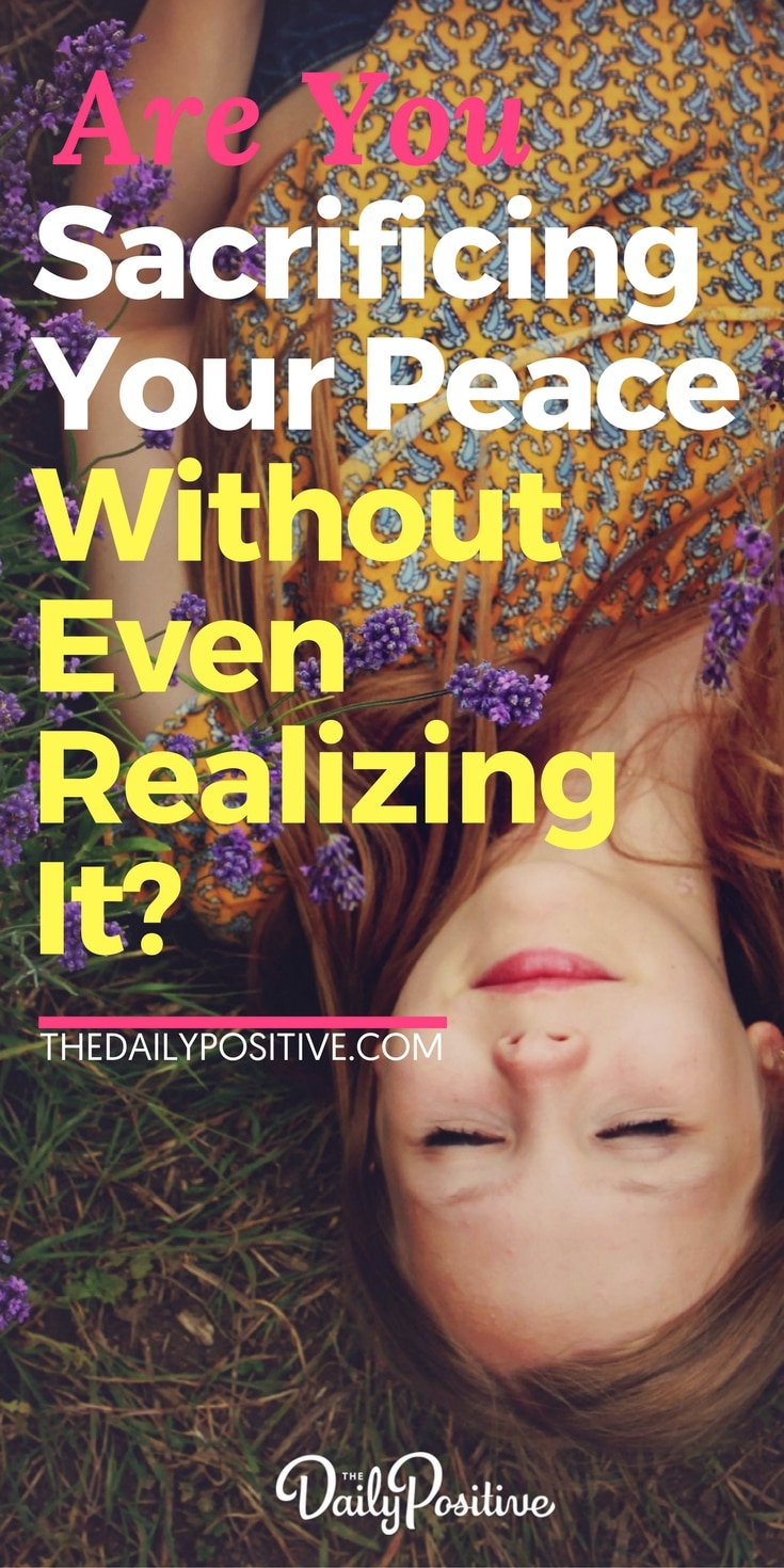 Are you sacrificing your peace in the small moments of your daily life, without even realizing it... flushing your peace down the toilet? Here's what you need to know, to retain peace no matter what is going on around you. #peace #presence #mindfulness #mantra #happiness #consciousliving #consciousness #lettinggo #mindset #personalgrowth #selfhelp #personaldevelopment #selfimprovement