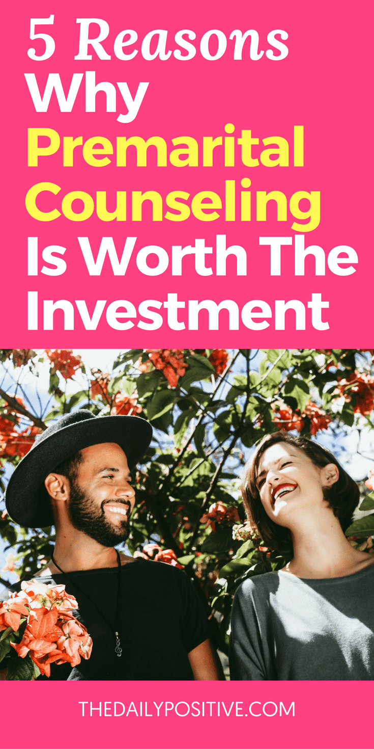 Your partner has proposed after all those years of dating and you're on your way to planning your wedding. Everything seems hunky-dory, but have the two of you considered going to premarital counseling together? You might think this is only for couples with