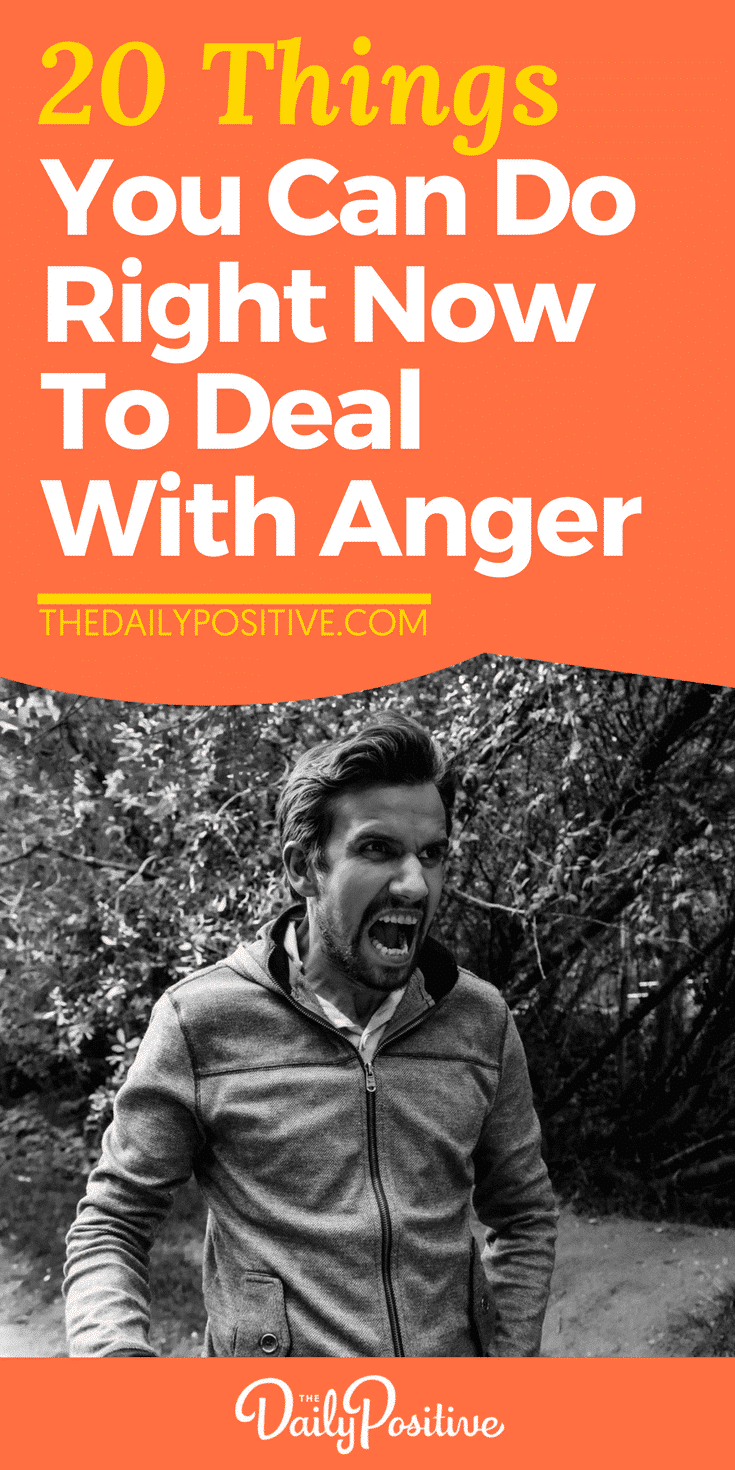 Anger impacts everything; our thoughts, feelings and behavior simultaneously, which explains why it's so challenging. You may be surprised at how a few simple behavioral changes can make you feel more confident in handling your anger. Here are 20 things you can do when you're angry. #anger #personalgrowth #psychology