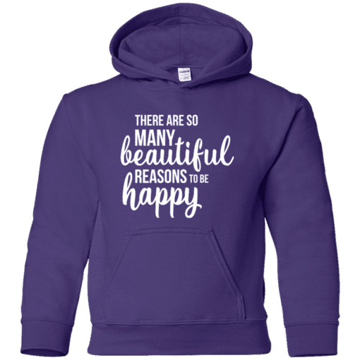 kids happiness quote hoodie