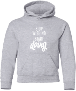 kids motivation quote hoodie