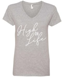 High on Life Womens V-Neck Tee