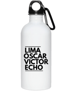 Lima Oscar Victor Echo Water Bottle